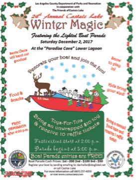 Come Celebrate the 24th Annual Winter Magic Festival and Lighted Boat Parade
